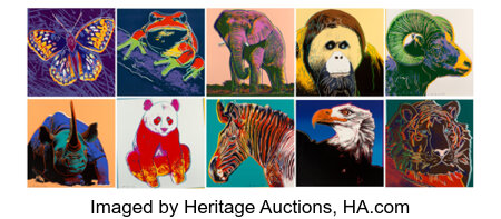 Andy Warhol (1928-1987) Endangered Species, 1983 Ten screenprints on Lenox museum board 38 x 38 inches (96.5 x 96.5 c... (Total: 10 Items)