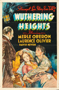 Movie Posters:Romance, Wuthering Heights (United Artists, 1939). Folded, Fine/Ver...