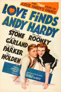 Movie Posters:Comedy, Love Finds Andy Hardy (MGM, 1938). Folded, Very Fine.