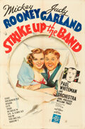 Movie Posters:Musical, Strike Up the Band (MGM, 1940). Folded, Very Fine-.