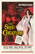 Movie Posters:Science Fiction, The She-Creature (American International, 1956). Folded, V...