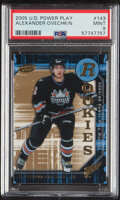 Hockey Cards:Singles (1970-Now), 2005 UD Power Play Alexander Ovechkin #143 PSA Mint 9. ...