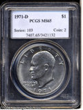 Eisenhower Dollars: , 1971-D MS65 PCGS. ...
