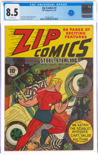 Zip Comics #2 (MLJ, 1940) CGC VF+ 8.5 Off-white pages