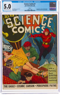 Science Comics #1 Denver Pedigree (Fox, 1940) CGC VG/FN 5.0 Cream to off-white pages