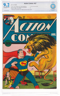 Action Comics #27 With New York World's Fair Insert (DC, 1940) CBCS NM- 9.2 Cream to off-white pages