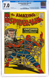 The Amazing Spider-Man #25 Steve Ditko Collection (Marvel, 1965) CGC FN/VF 7.0 Cream to off-white pages