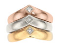 Estate Jewelry:Rings, Cartier Diamond, Gold Rings, French. ... (Total: 3 Items)