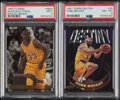 Basketball Cards:Lots, 1993 Classic Special Bonus Shaquille O'Neal & 1997 Topps Destiny Kobe Bryant PSA Graded Pair (2).... (Total: 2 items)