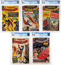 Silver Age (1956-1969):Superhero, The Amazing Spider-Man CGC-Graded Group of 5 Steve Ditko Collection (Marvel, 1964-65).... (Total: 5 Comic Books)