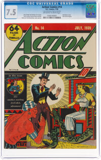 Action Comics #14 (DC, 1939) CGC VF- 7.5 Off-white to white pages