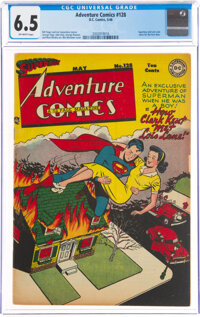 Adventure Comics #128 (DC, 1948) CGC FN+ 6.5 Off-white pages