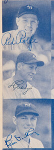 Baseball Collectibles:Publications, 1939 Hall of Famers & Stars Multi-Signed Program with Lou Gehrig....