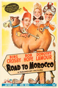Movie Posters:Comedy, Road to Morocco (Paramount, 1942). Fine+ on Linen....