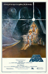 """Star Wars (20th Century Fox, 1977). Rolled, Near Mint. First Printing One Sheet (27"""" X 41"""") NSS Style A with R..."""