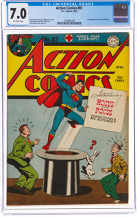 Action Comics #83 (DC, 1945) CGC FN/VF 7.0 Off-white pages