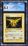 Memorabilia:Trading Cards, Pokémon Zapdos #16 First Edition Base Set Trading Card (Wizards of the Coast, 1999) CGC NM/Mint+ 8.5....