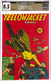 Yellowjacket Comics #2 The Promise Collection Pedigree (Charlton, 1944) CGC VF+ 8.5 Off-white to white pages