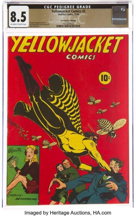 Yellowjacket Comics #2 The Promise Collection Pedigree (Charlton, 1944) CGC VF+ 8.5 Off-white to white pages....