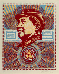 Shepard Fairey (b. 1970) The Beloved Premiere, We Are Blinded by Your Majesty, 2003 Screenprint in c