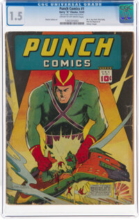 Punch Comics #1 (Chesler, 1941) CGC FR/GD 1.5 Cream to off-white pages