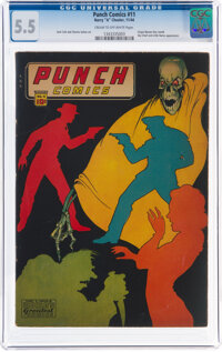 Punch Comics #11 (Chesler, 1944) CGC FN- 5.5 Cream to off-white pages