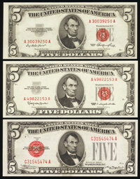 Fr. 1528 $5 1928C Legal Tender Note. Extremely Fine-About Uncirculated; Fr. 1532 $5 1953 Legal Tender Note. Choice Crisp...