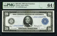 Fr. 1011a $20 1914 Federal Reserve Note PMG Choice Uncirculated 64 EPQ