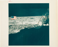 """Apollo 11 Vintage NASA """"Red Number"""" Color Photo, Image AS11-40-5886: Armstrong on the Moon"""