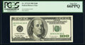 Small Size:Federal Reserve Notes, Fr. 2175-B $100 1996 Federal Reserve Note. PCGS Gem New 66PPQ.. ...