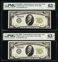 Small Size:Federal Reserve Notes, Fr. 2003-B $10 1928C Federal Reserve Notes. Two Consecutive Examples. PMG Choice Uncirculated 63 EPQ.. ... (Total: 2 notes)