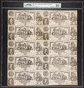 Confederate Notes:1861 Issues, T20 $20 1861 Uncut Sheet of Ten PMG Choice Very Fine 35 Net.. ...