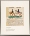 Miscellaneous:Other, A Shin-Plaster Candidate vs. A Hard-Money Candidate Broadside Probably Pennsylvania 1847-48 Not Graded.. ...