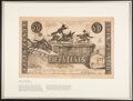 Fifty Cents Shin Plaster Panic of 1837 Caricature Print - Publisher Henry R. Robinson, New York May 10, 1837 Not Graded...