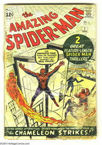 Amazing Spider-Man #1 (Marvel, 1963) Condition: FR. Here's a chance to get a key Silver Age issue at a great price. Seco...