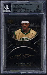 2011-12 Exquisite Collection UD Black LeBron James Autograph #B-LE BGS Mint 9, Auto 10 - Serial Numbered 6/10