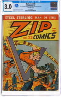 Zip Comics #22 (MLJ, 1942) CGC GD/VG 3.0 Off-white to white pages