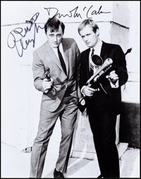 """The Man from U.N.C.L.E. (1980s). Very Fine/Near Mint. Signed Restrike Photo (8"""" X 10""""). Action. ... (Total: 2..."""