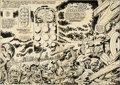 Original Comic Art:Story Page, Jack Kirby and Frank Giacoia Captain America #194 Double-Page Spread 2-3 Original Art (Marvel, 1976)....