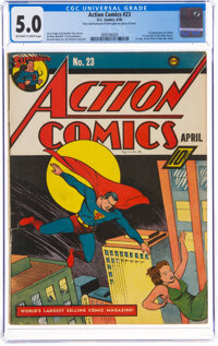 Action Comics #23 (DC, 1940) CGC VG/FN 5.0 Off-white to white pages