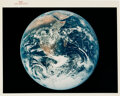 """Explorers:Space Exploration, Apollo 17 Vintage NASA """"Red Number"""" Color Photo, Image AS17-148-22727: Blue Marble...."""