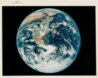 """Apollo 17 Vintage NASA """"Red Number"""" Color Photo, Image AS17-148-22727: Blue Marble"""
