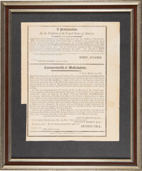 John Adams: Proclamation By The President Of The United States Broadside