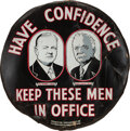 Political:3D & Other Display (1896-present), Hoover & Curtis: Spectacular Jugate Tire Cover....