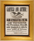 Political:Posters & Broadsides (pre-1896), James A. Garfield: Large Graphic 1880 Campaign Broadside....