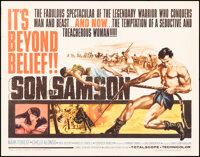 """Son of Samson & Other Lot (Medallion, 1962). Folded, Very Fine-. Half Sheets (2) (22"""" X 28""""). Action..."""