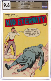Kid Eternity #1 The Promise Collection Pedigree (Quality, 1946) CGC NM+ 9.6 White pages