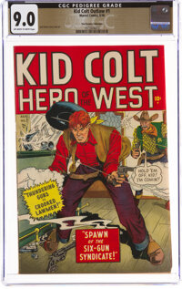 Kid Colt Outlaw #1 The Promise Collection Pedigree (Marvel, 1948) CGC VF/NM 9.0 Off-white to white pages