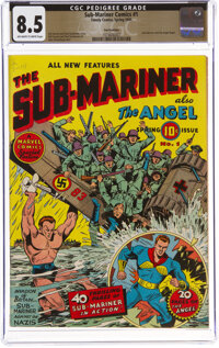 Sub-Mariner Comics #1 San Francisco Pedigree (Timely, 1941) CGC VF+ 8.5 Off-white to white pages