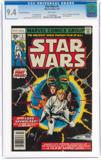 Star Wars #1 35¢ Price Variant (Marvel, 1977) CGC NM 9.4 White pages
